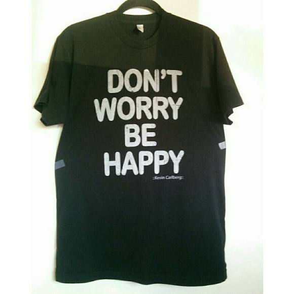 076b7fe6e3 American Apparel Shirts | Dont Worry Be Happy Mens Novelty Tee ...